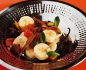 Tajine de banane aux fruits secs et aux carambars de gilles choukroun