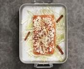 Saumon de Norvège au four aux amandes, à la cannelle, et au fenouil