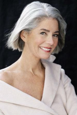Cheveux gris avec un carr court diaporama beaut doctissimo - Cheveux gris court ...