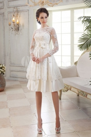 Robes populaires Blog: Robe de mariee pas cher milanoo