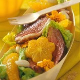 La coupelle fraîcheur salade, orange, magret