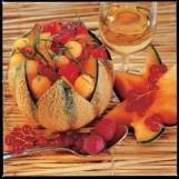 Coque de melon aux fruits rouges