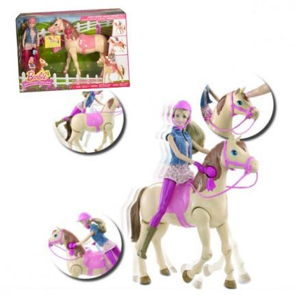 Barbie hop cheval de mattel - Barbie au cheval ...