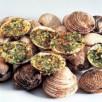 Praires farcies aux noix et pignons