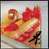 Nage de rhubarbe aux fraises
