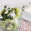 Méli-mélo de Kiwi - Roquefort en salade de fruit
