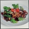 Salade de poires, d'andouille au pommeau