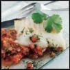 Filet de cabillaud, concassée de tomates à la coriandre