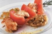 Brochettes de lotte et caviar d'aubergines