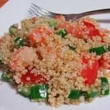 Gâteau de poireaux au quinoa et au sésame