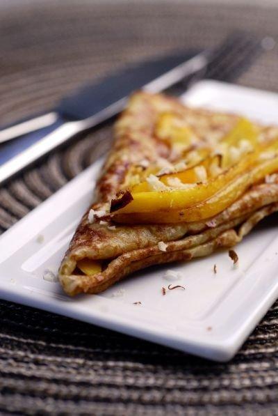 cr pes au beurre de mangue nougat recette de cr pes au beurre de mangue nougat doctissimo. Black Bedroom Furniture Sets. Home Design Ideas