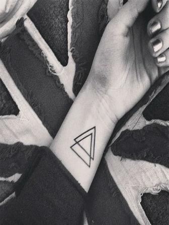 tatouage triangles poignet diaporama beaut doctissimo. Black Bedroom Furniture Sets. Home Design Ideas