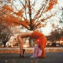 posture de yoga parc