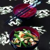 Haricots verts au wok