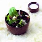 Salad de mesclun, figues, feta