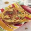 Tartelettes à la dinde, tomate, chèvre et thym