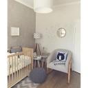 chambre de bébé tons gris