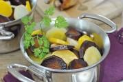 cocotte-de-legumes-anciens-glaces-au-miel-et-cailles-roties