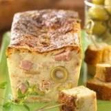 Pain-cake aux olives et au jambon