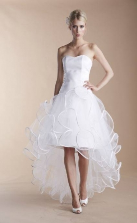 Robe de mariée courte en tulle 2013 Suzanne Ermann - Diaporama ...