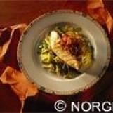 Filet de cabillaud de norvège (skrei) à la piperade  et spaghetti de courgettes