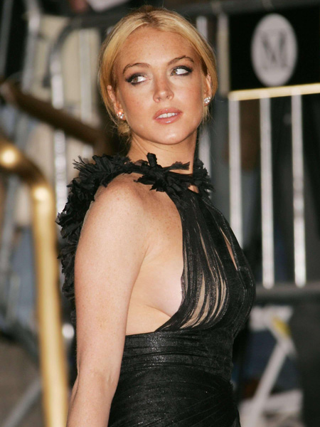 Resbalones de Lindsay lohan boob