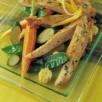 Filets de dinde marinés au citron et ses légumes croquants