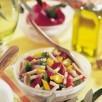 Salade de dinde aux poivrons arlequin