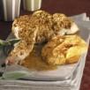 Epaules de lapin dorées fondue de légumes au parmesan