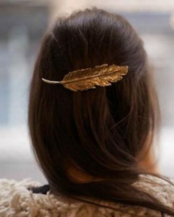 Bijoux cheveux bijou de cheveux plume or diaporama for Maladie poules perte plumes