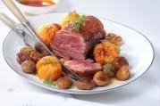 roti-de-magrets-au-foie-gras-clementines-et-marrons-poeles