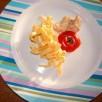 Emincé de poulet avec sa sauce légère
