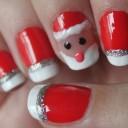 nail art pere noel