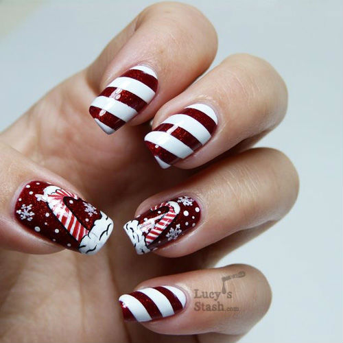 Photo Nail Art Noel - Nail Art Ideas