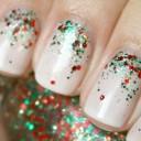 nails art paillette
