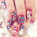 ongles nail art noel