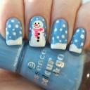 photo nail art bonhomme de neige