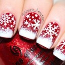 idee nail art flocon de neige