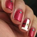 idee nail art pere noel