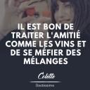citation amitié Colette