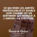 citation amitié Honoré de Balzac