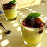 Gaspacho d'ananas givré à la menthe