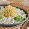Salade de papaye verte et poisson cru mariné