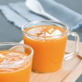 Cappuccino de carottes à l'orange, coriandre et cumin