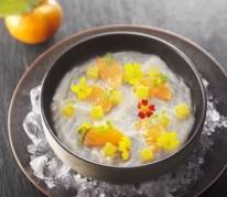 carpaccio-de-dorade-a-la-clementine-de-corse-en-aigre-douce-sur-glace
