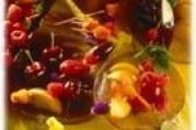 Fondue de fruits au chocolat délicieuse