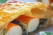 Feuilleté au surimi aux pousses d'épinard