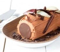 buche-creme-au-beurre-glacage-chocolat-et-poires