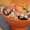 Taboulé de chou-fleur aux fruits de mer