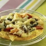 Pizzettes aux legumes d'été et à l'emmental